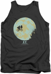 E.T. tank top In The Moon mens charcoal