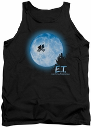 E.T. tank top Moon Scene mens black