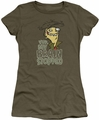 Ed Edd Eddy juniors t-shirt Brain Dead Ed military green