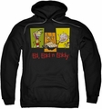 Ed Edd Eddy pull-over hoodie 3 Eds adult black