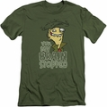 Ed Edd Eddy slim-fit t-shirt Brain Dead Ed mens military green