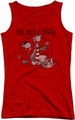 Ed Edd N Eddy juniors tank top Gang red