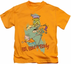 Ed Edd N Eddy kids t-shirt Free Fall gold