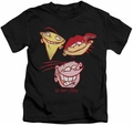Ed Edd N Eddy kids t-shirt Three Heads black