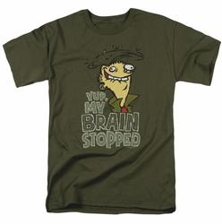 Ed Edd N Eddy t-shirt Brain Dead Ed mens military green
