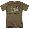 Ed Edd N Eddy t-shirt For A Smooch mens safari green