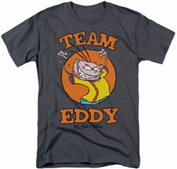 Ed Edd N Eddy t-shirt Team Eddy mens charcoal