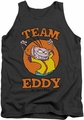 Ed Edd N Eddy tank top Team Eddy mens charcoal