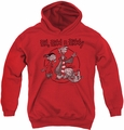 Ed Edd N Eddy youth teen hoodie Gang red