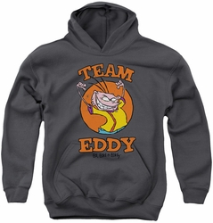 Ed Edd N Eddy youth teen hoodie Team Eddy charcoal