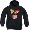 Ed Edd N Eddy youth teen hoodie Three Heads black