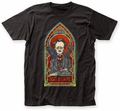 Edgar Allan Poe Stained Glass fitted jersey tee black mens pre-order