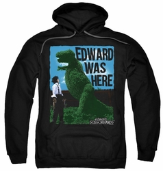 Edward Scissorhands pull-over hoodie Edward Was Here adult black
