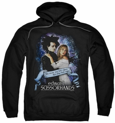 Edward Scissorhands pull-over hoodie That Night adult black