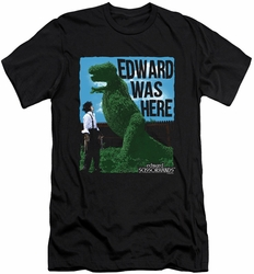 Edward Scissorhands slim-fit t-shirt Edward Was Here mens black