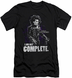 Edward Scissorhands slim-fit t-shirt Not Complete mens black