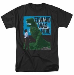 Edward Scissorhands t-shirt Edward Was Here mens black