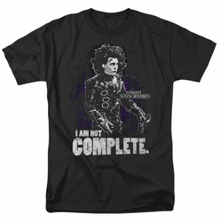 Edward Scissorhands t-shirt Not Complete mens black