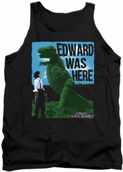 Edward Scissorhands tank top Edward Was Here mens black