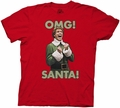 Elf the Movie OMG Santa! mens t-shirt