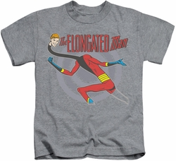 Elongated Man kids t-shirt Pose heather