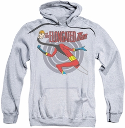 Elongated Man pull-over hoodie DC Comics adult athletic heather