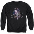 Elvis adult crewneck sweatshirt Dream State black