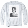 Elvis adult crewneck sweatshirt Framed white