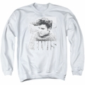 Elvis adult crewneck sweatshirt Relaxing white