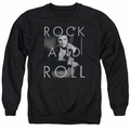 Elvis adult crewneck sweatshirt Rock And Roll black