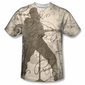 Elvis front sublimation t-shirt Its Good To Be King short sleeve White