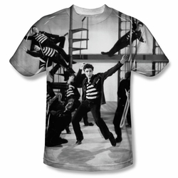 Elvis front sublimation t-shirt Jubilant Felons short sleeve White
