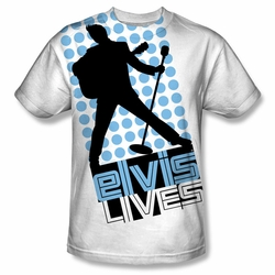 Elvis front sublimation t-shirt Livin Large short sleeve White