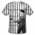 Elvis front sublimation t-shirt Whole Cell Block short sleeve White