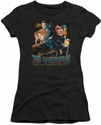 Elvis Presley juniors t-shirt 75 Years black