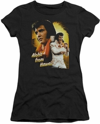 Elvis Presley juniors t-shirt Aloha black