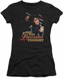 Elvis Presley juniors t-shirt Are You Lonesome black