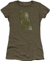 Elvis Presley juniors t-shirt Army military green