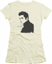 Elvis Presley juniors t-shirt Black Paint cream