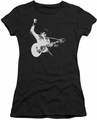 Elvis Presley juniors t-shirt Black & White Guitar Man black