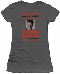 Elvis Presley juniors t-shirt Buffalo 1956 charcoal