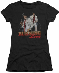 Elvis Presley juniors t-shirt Burning Love black