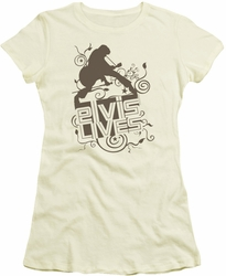 Elvis Presley juniors t-shirt Elvis Lives cream