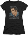 Elvis Presley juniors t-shirt Graphic King black