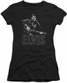 Elvis Presley juniors t-shirt Guitar In Hand black