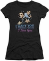 Elvis Presley juniors t-shirt I Want You black