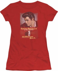 Elvis Presley juniors t-shirt Jailhouse Rock Poster red