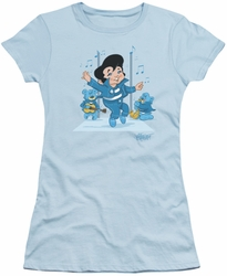 Elvis Presley juniors t-shirt Jailhouse Rocker light blue