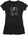 Elvis Presley juniors t-shirt Leather charcoal