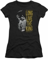 Elvis Presley juniors t-shirt Long Live The King black